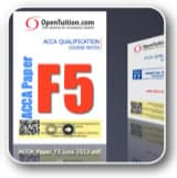 Free ACCA course notes Paper f5