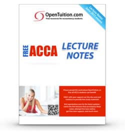 Free acca notes lectures tests free acca study material 2018 study acca online with free notes and lectures from opentuition for june 2018 acca exams fandeluxe Images