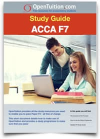 ACCA F7 Financial Reporting, free lectures, course notes