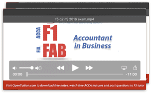 Acca f1 lectures notes and revision tests free acca f1 lectures fandeluxe Images