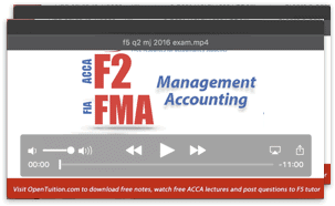 Acca f2 lecture notes and free video lectures free acca f2 lectures fandeluxe Images