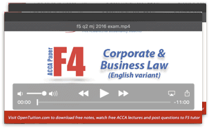 Acca f4 corporate and business law free lectures notes and exam tips free acca f4 lectures fandeluxe Images