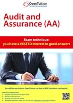 ACCA AA Exam technique: you have a VESTED interest in good answers 1