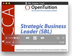ACCA Strategic Business Leader (SBL) Lectures