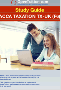 ACCA Taxation TX-UK Study Guide 1