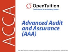 ACCA Advanced Audit and Assurance (AAA) Lectures