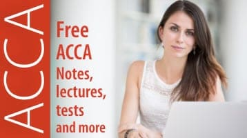 Free ACCA notes, lectures, tests  | Study ACCA online