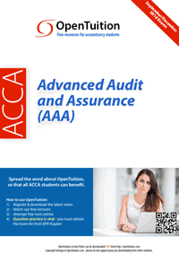 ACCA Advanced Audit and Assurance (AAA) 1