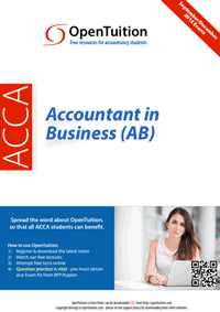 ACCA Accountant in Business (AB) / FAB Notes 1