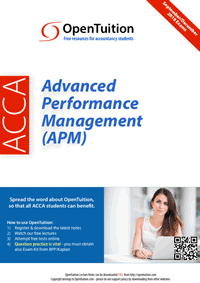 ACCA Advanced Performance Management (APM) Notes 1