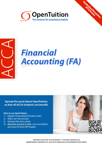 ACCA Financial Accounting (FA) / FIA FFA 1