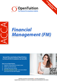 ACCA Financial Management (FM) 1