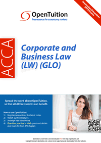 ACCA Corporate and Business Law (LW) (GLO) notes 1