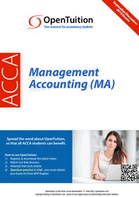 ACCA Management Accounting MA Exam 1