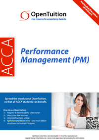 ACCA Performance Management (PM) Notes 1