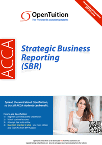 ACCA Strategic Business Reporting (SBR) 1