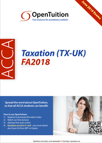 Free Acca Taxation Tx Uk Lectures June 2019 March 2020