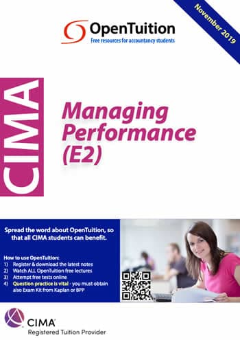 CIMA E2 Project and Relationship Management 2
