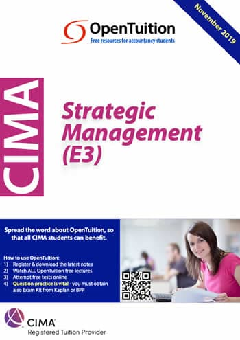 CIMA E3 Strategic Management 2