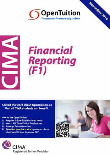 CIMA F1 Financial Reporting 2