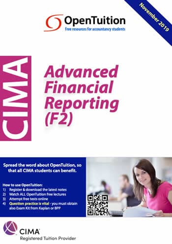 CIMA F2 Advanced Financial Reporting 2