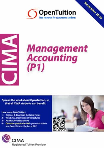 CIMA P1 Management Accounting 2