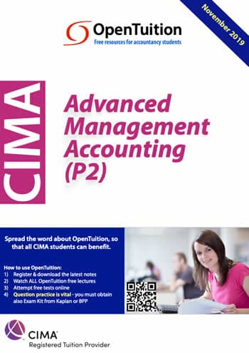 CIMA P2 Advanced Management Accounting 2