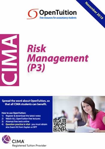 CIMA P3 - Free CIMA Notes and Lectures,tests and forums