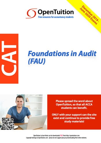 Free FAU Course notes, FAU Foundations in Audit,