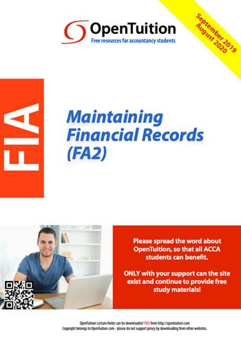 FA2 Maintaining Financial Records 1