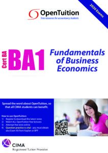CIMA BA1 Fundamentals of Business Economics 2