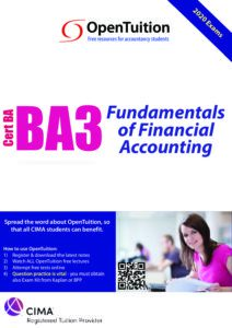 CIMA BA3 Fundamentals of Financial Accounting 2