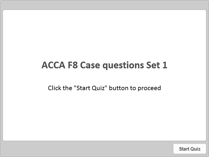 F8 Case questions Set 1 | OpenTuition com Free resources for ACCA