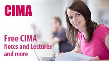 Free CIMA notes and lectures