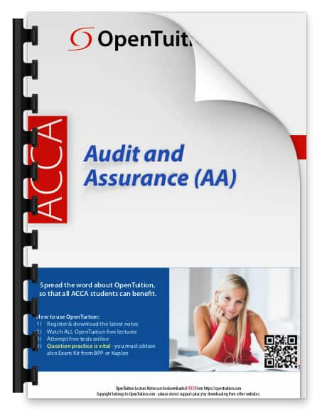 ACCA Audit and Assurance (AA) 1
