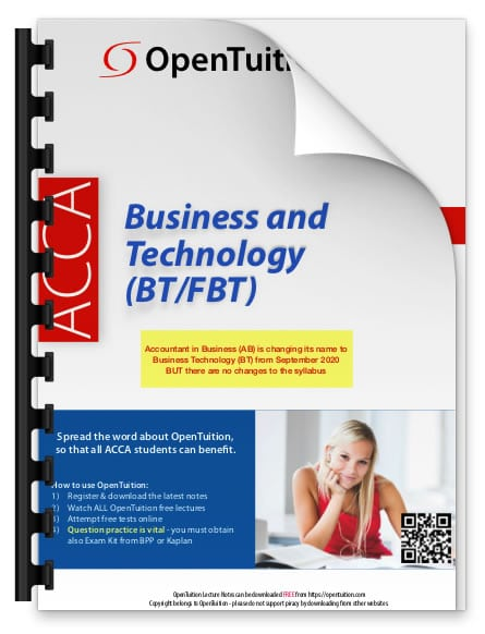 ACCA Business and Technology (BT/FBT) 1