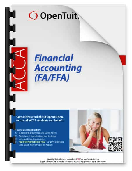 ACCA Financial Accounting (FA) Notes 1