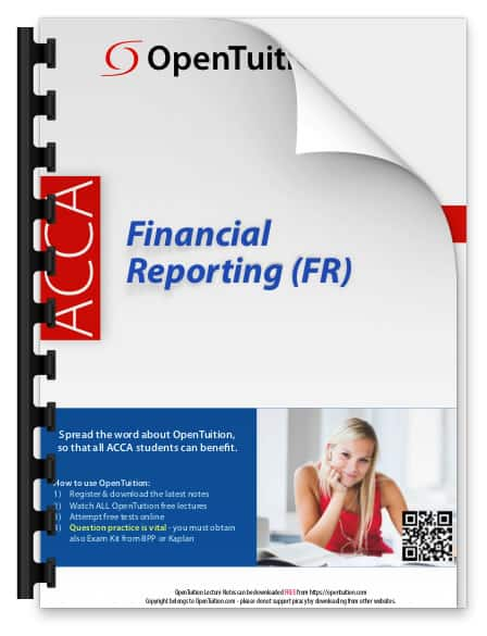 ACCA Financial Reporting (FR) Notes 1
