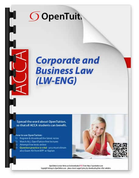 ACCA Corporate and Business Law (LW) (ENG) notes 1