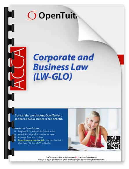 ACCA Corporate and Business Law (LW) 2