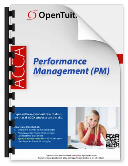 ACCA PM Performance Management Exam 1