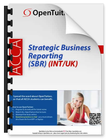 ACCA Strategic Business Reporting SBR notes 1