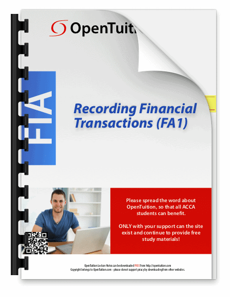 FA1 Recording Financial Transactions 1
