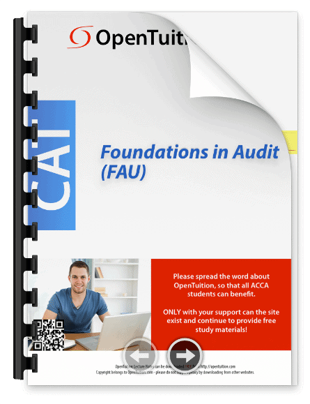 FAU Foundations in Audit 1